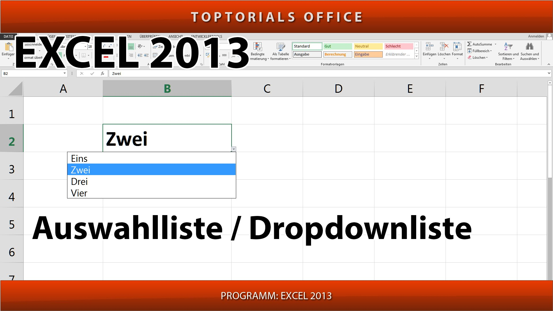 auswahlliste    dropdownliste erstellen  excel