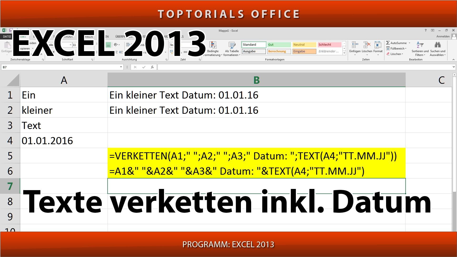 Excel Text Und Formel In Zelle