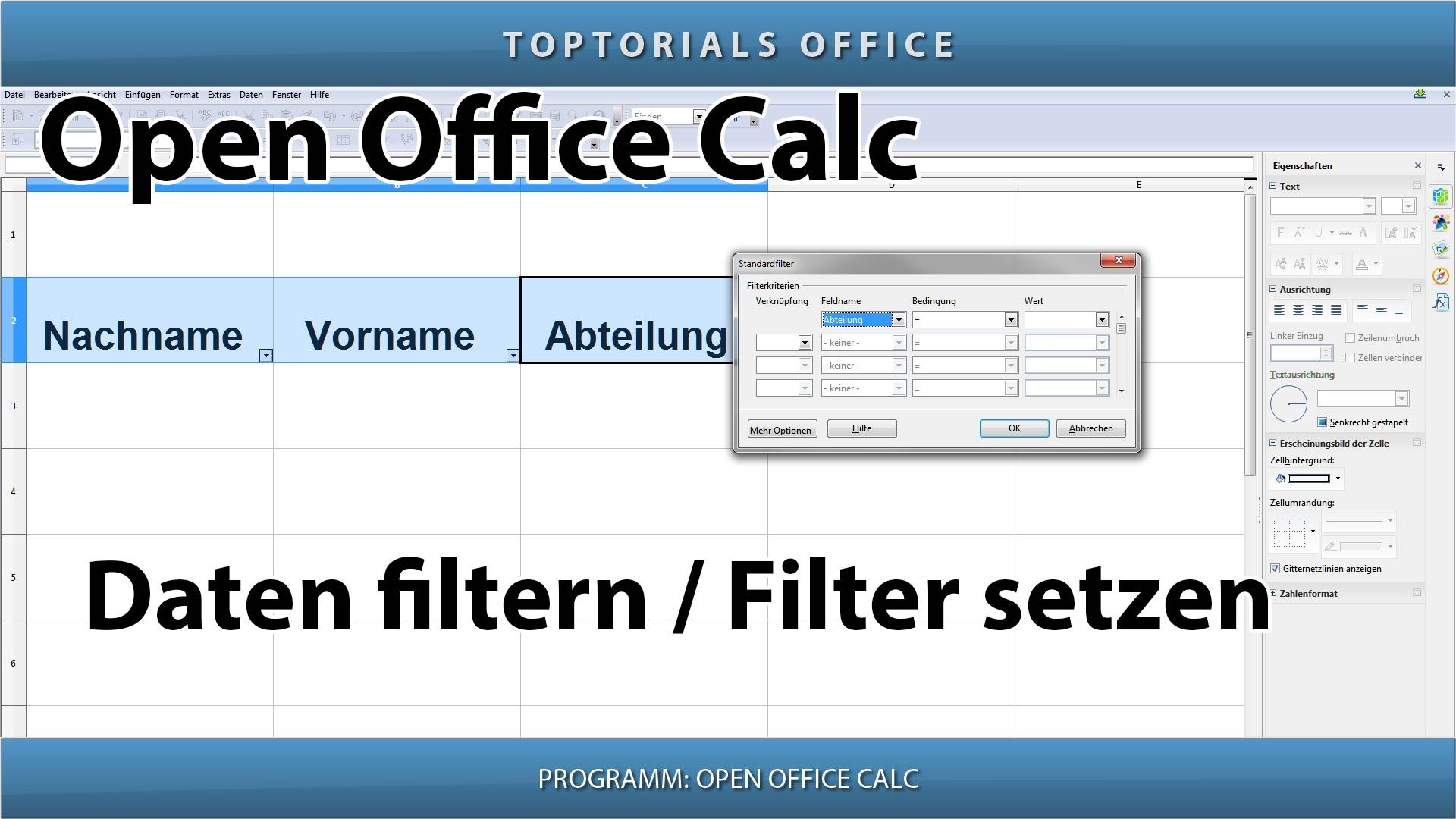 Daten Filtern Einen Oder Mehrere Filter Setzen Open
