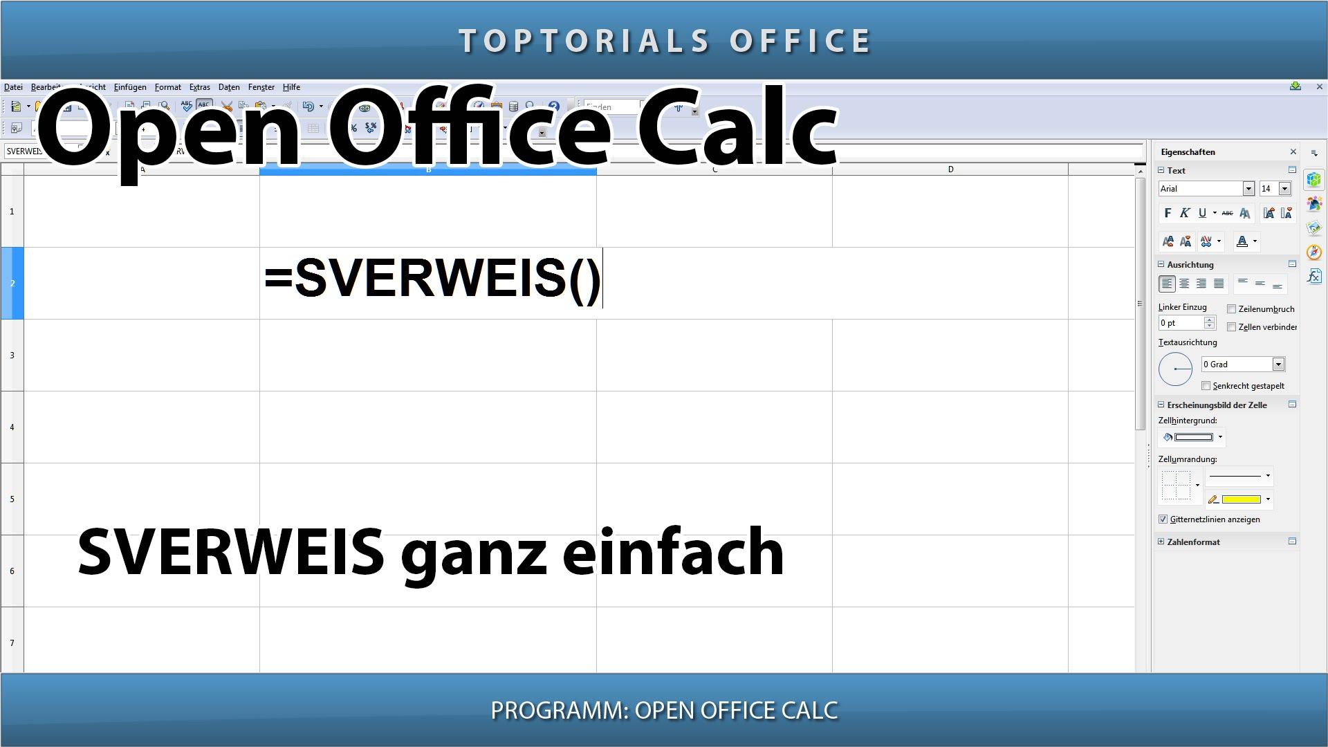 Sverweis Ganz Einfach Openoffice Calc Toptorials