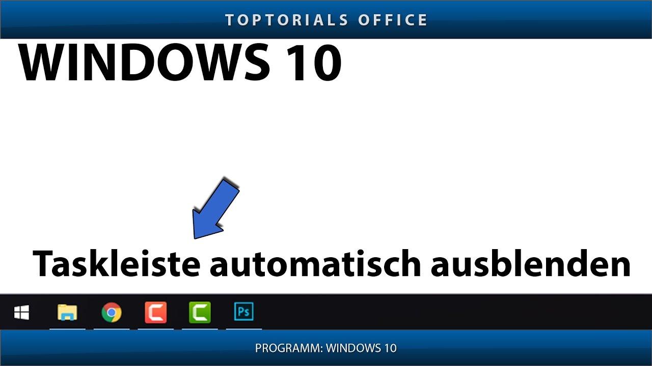 Windows 10 Taskleiste Weg