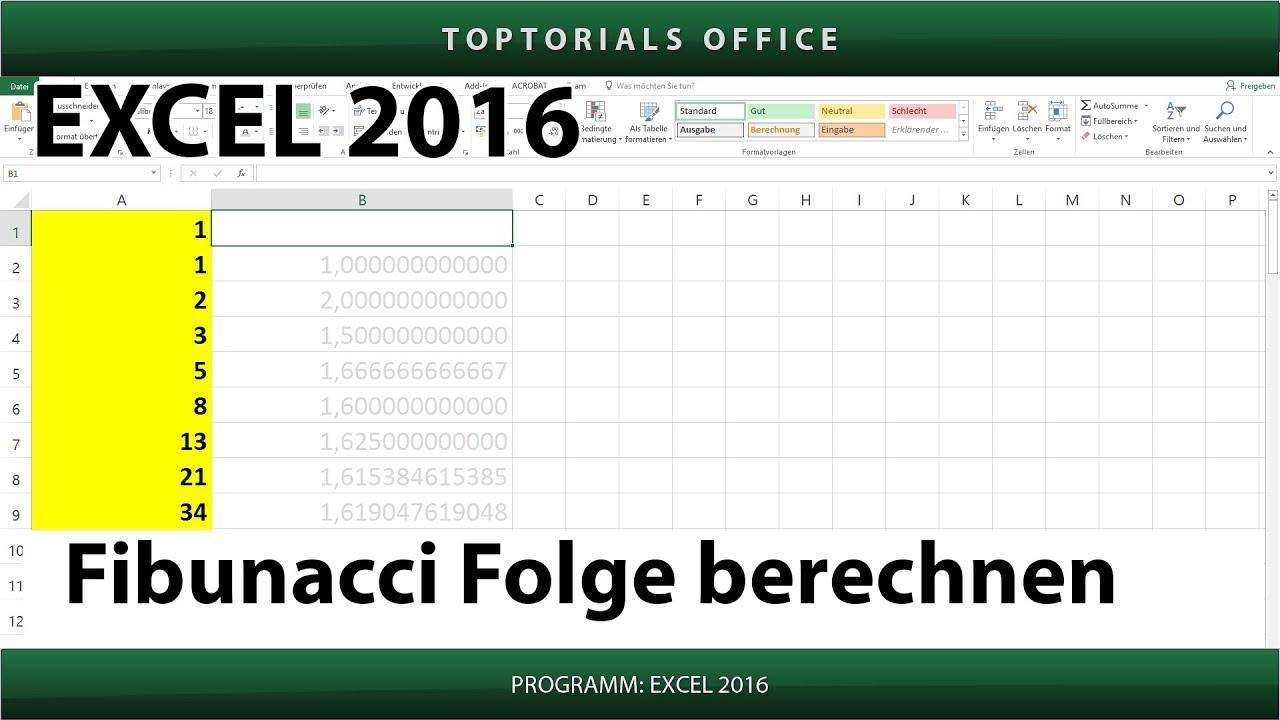 Fahrroute Berechnen : fibunacci folge berechnen excel toptorials ~ Themetempest.com Abrechnung