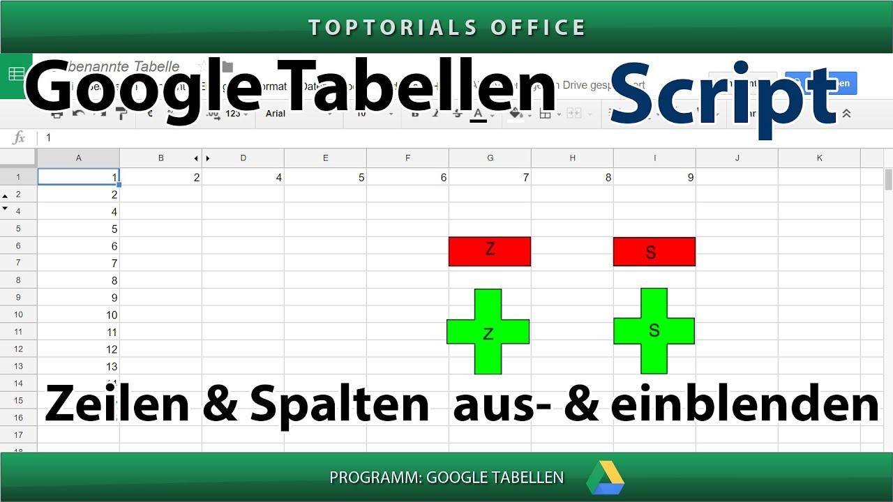Einf gen oder l schen von zellbereichen bei google tabellen for Tabelle 7 spalten