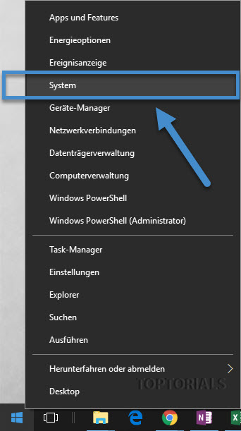 Windows 10 Kontextmenü System