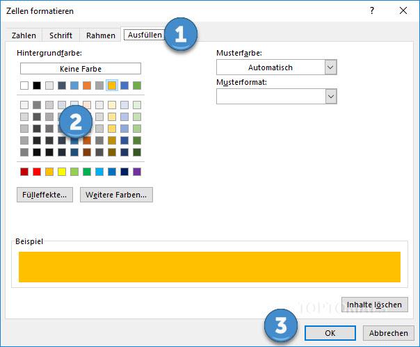 Excel Bedingte Formatierung Hintergrundfarbe