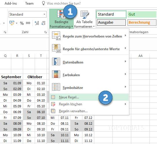 Excel Bedingte Formatierung Neue Regel