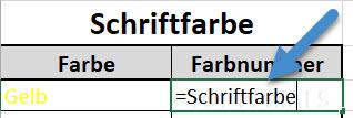 Excel Formel Schriftfarbe
