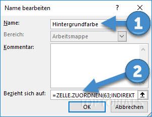 Excel Hintergrundfarbe definieren
