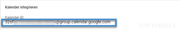 Google Kalender ID