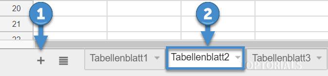 Google Tabellen neue Tabelle