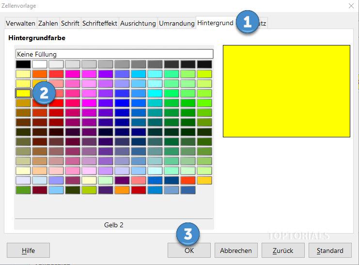 LibreOffice Calc neue Vorlage bedingte Formatierung