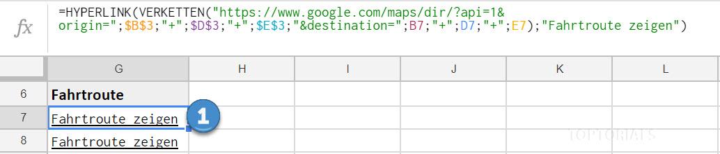 Google Tabellen Fahrtroute Google Maps