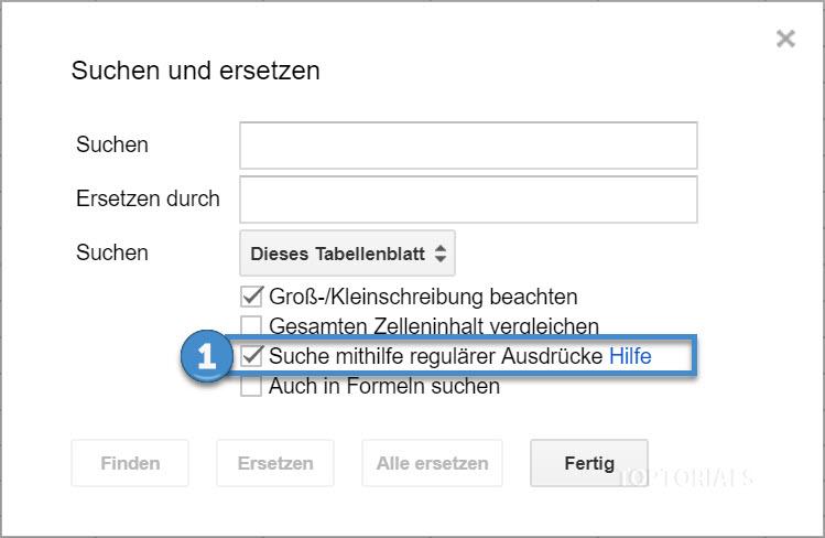 Suchen mithilfe regulärer Ausdrücke Google