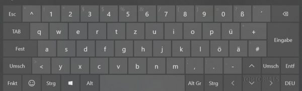 Windows 10 Bildschirmtastatur