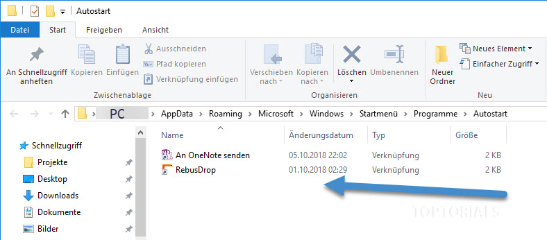 Autostart Ordner von Windows 10
