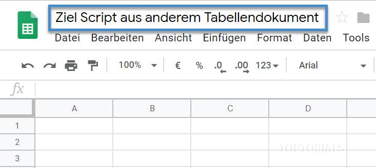 Ziel Tabellendokument