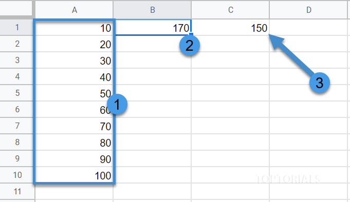 Zellen summieren bis Wert mit Google Tabellen Script